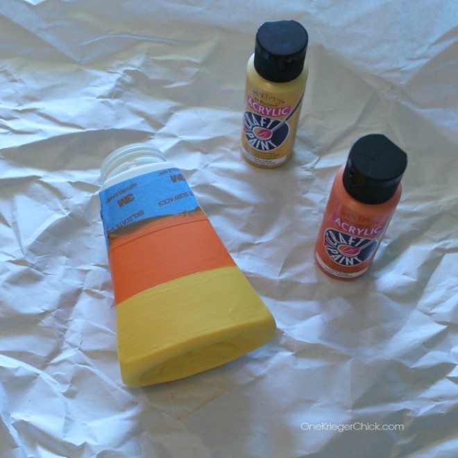 Easy Halloween Decorations Candy Corn Soap Dispenser