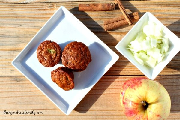 Healthy Snacks Apple Zucchini Muffins