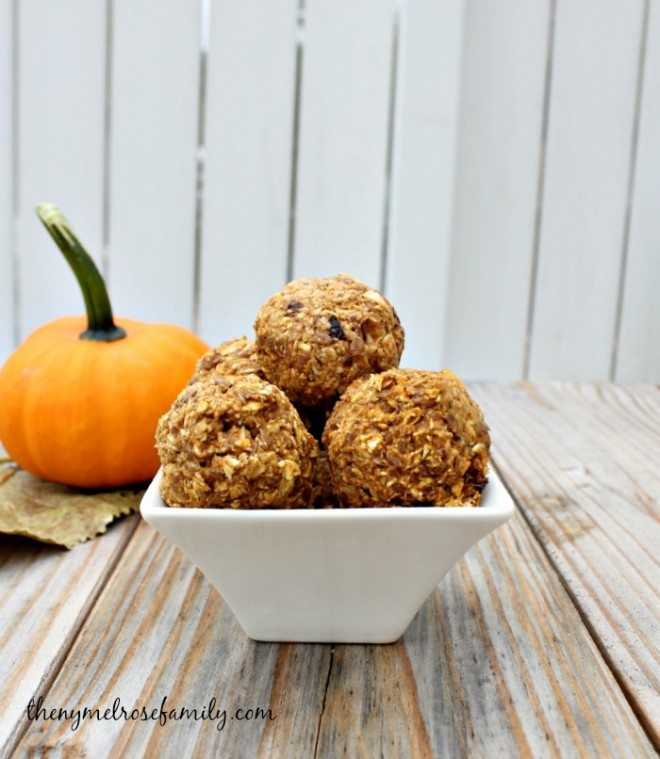 Pumpkin Pie Energy Bites Snack Idea