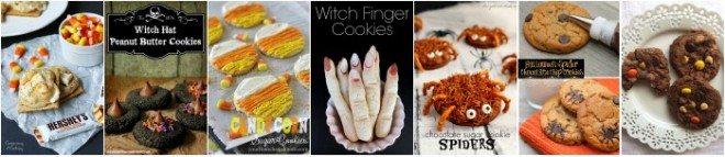 halloween cookies collage