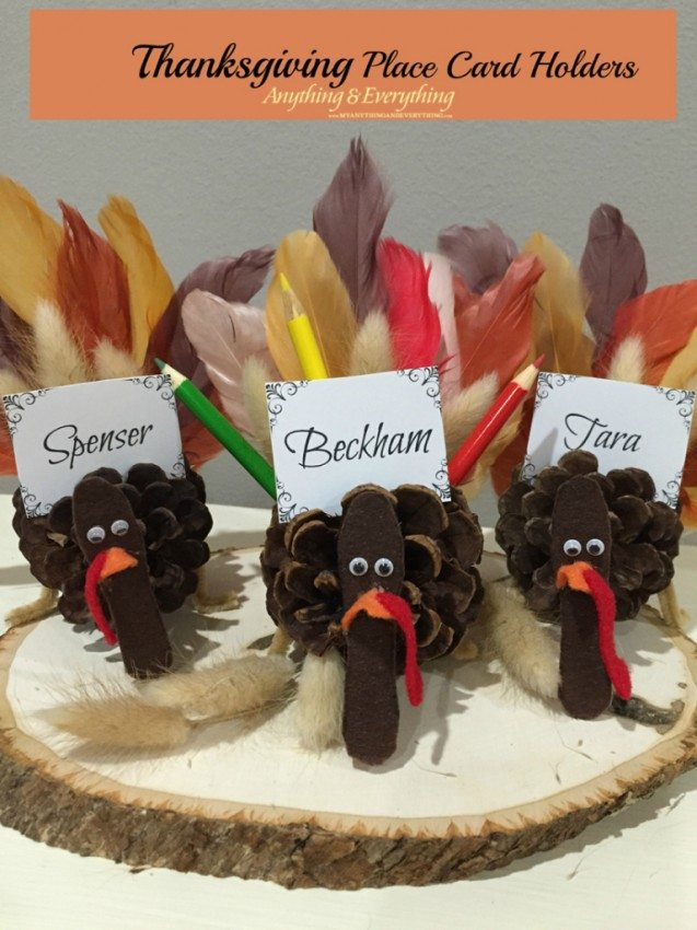 Thanksgiving Place Card Holder Templates