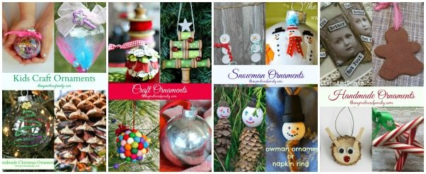Handmade Christmas Ornaments Collage