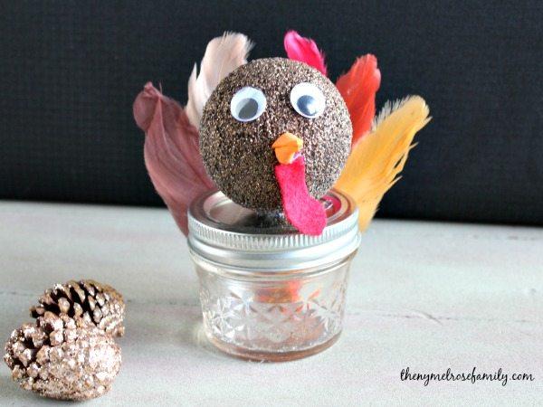 Mason Jar Turkey Gift