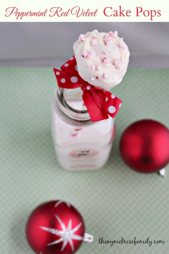 Peppermint Red Velvet Cake Pops