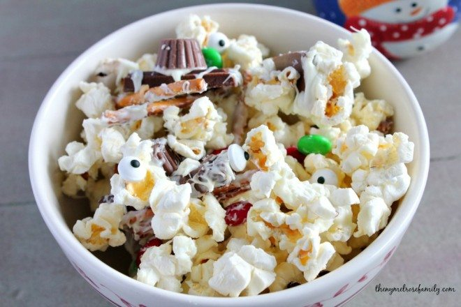 Snowman Popcorn Recipe