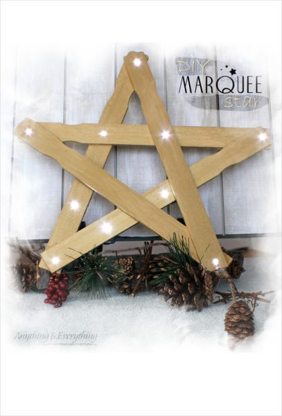 DIY Christmas Decorations Marquee Star