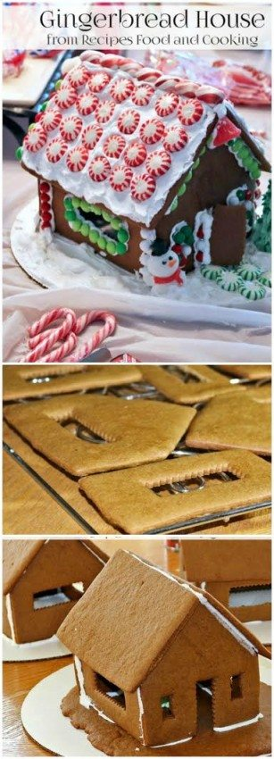 This Gingerbread House recipe is so easy and perfect for celebrating Christmas and holidays with your friends and family. Head to our site for full recipe and tips! via @jennymelrose