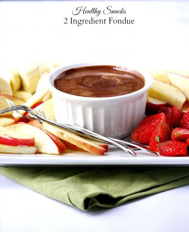 Healthy Snacks 2 Ingredient Fondue