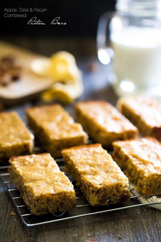 Healthy Cornbread Protein Bars