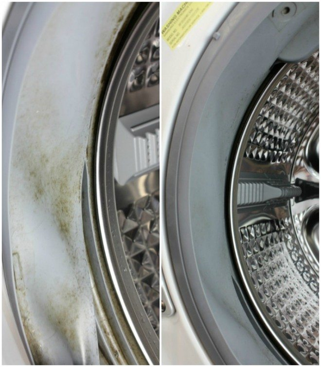 front load washer side before and after