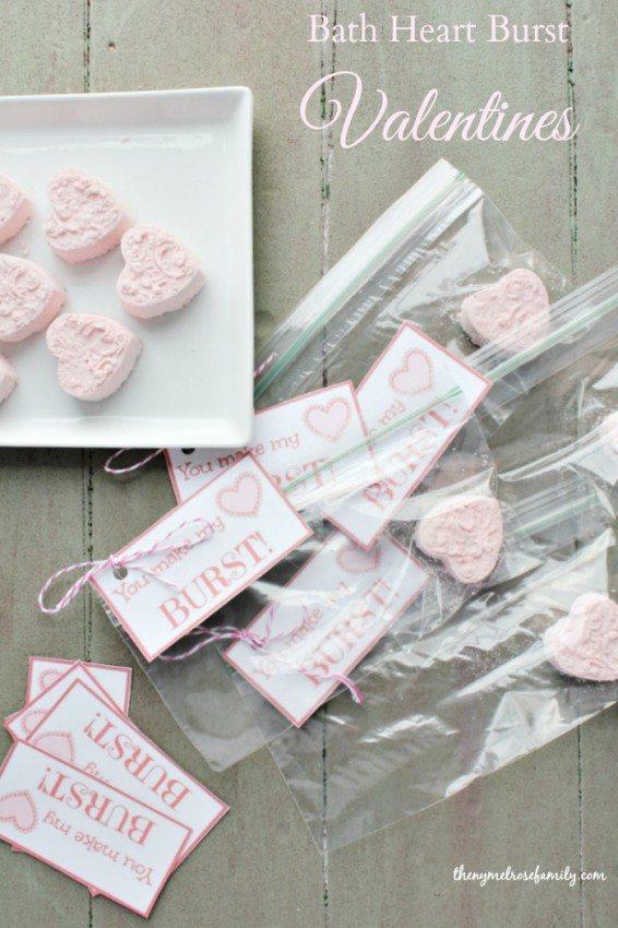 Bath Heart Burst Valentines