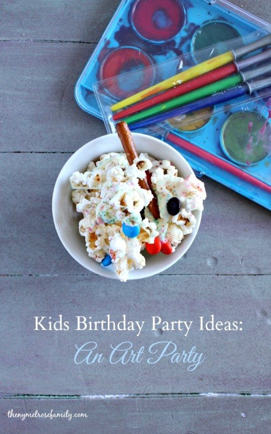 Kids Birthday Party Ideas An Art Party