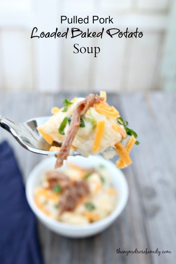Pulled Pork Loaded Baked Potato Soup