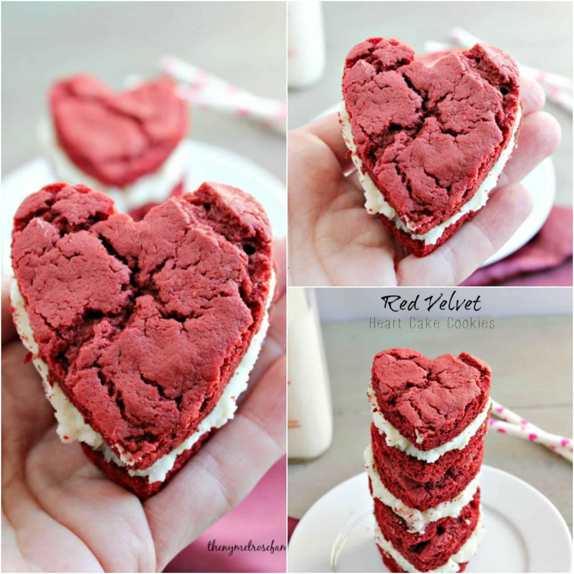 red velvet heart cake cookies fb