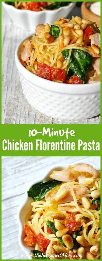 10 Minute Chicken Florentine Pasta