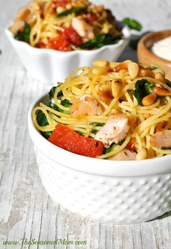 Chicken Florentine Pasta Dinner