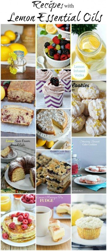Recipes with Lemon Essential Oils