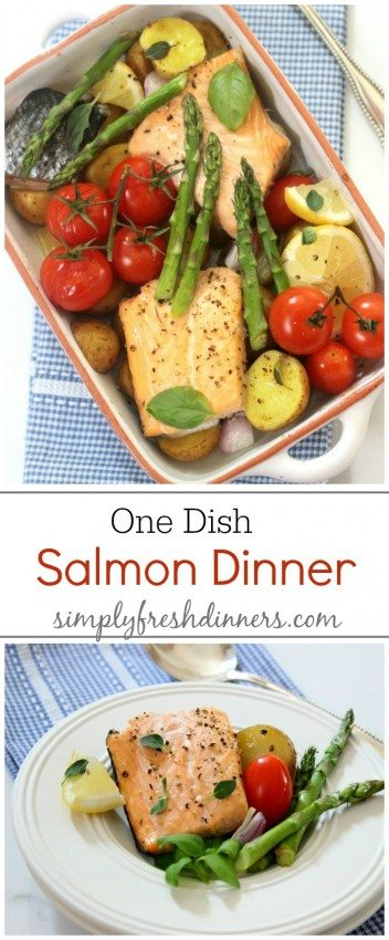 One Dish Baked Salmon