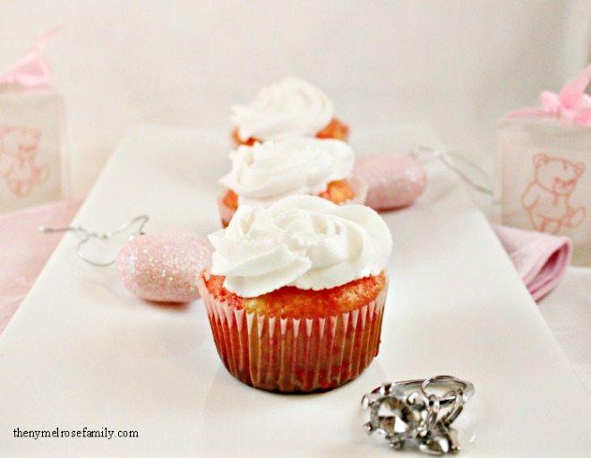 Raspberry jello cupcakes
