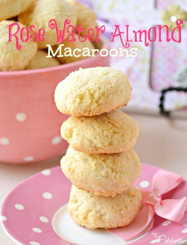 Rose Water Almond Cookies
