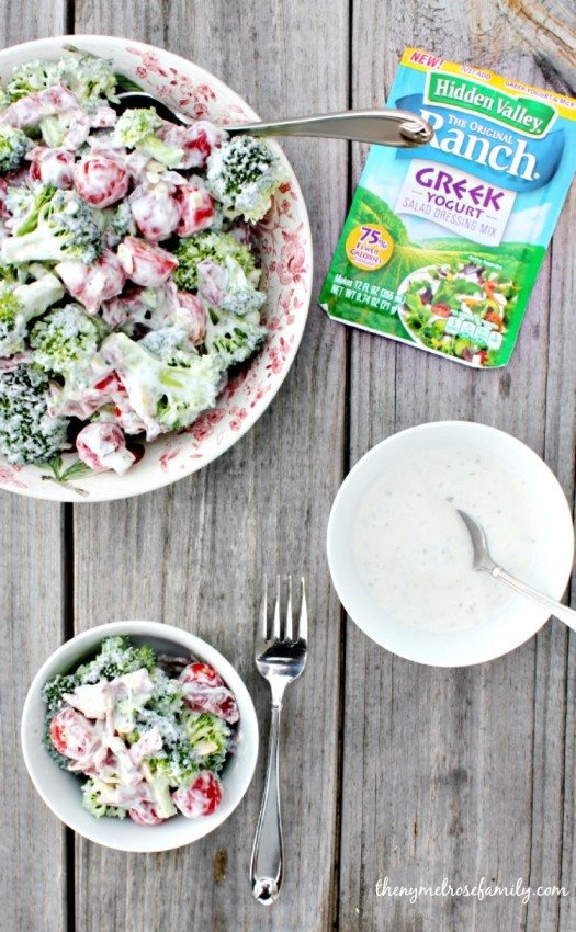 Skinny Broccoli Salad with Ranch