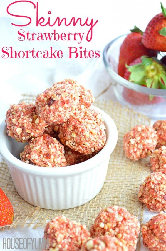 Skinny Strawberry Shortcake Bites