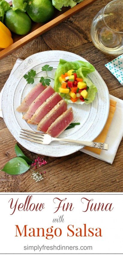 Yellow Fin Tuna with Mango Salsa