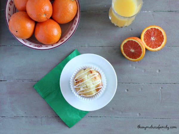 Orange Creamicle Muffins with Orange Glaze