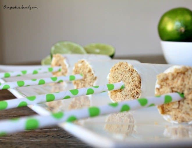 Lime Cheesecake Ice Pops