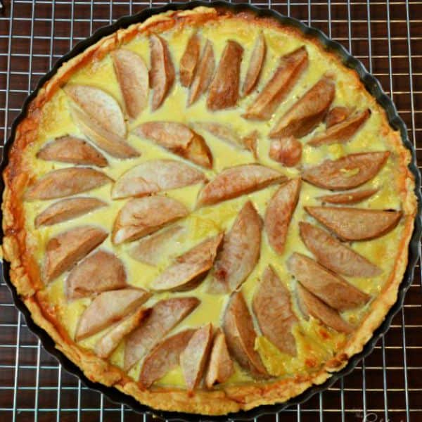White Peach Tart Baked