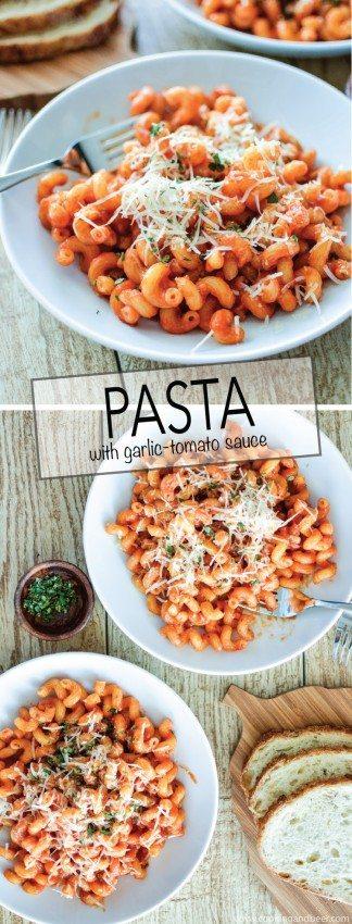 Pasta with Garlic Tomato Sauce