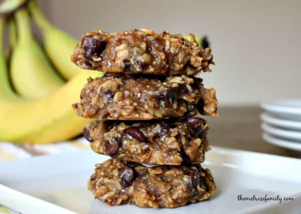 Banana & Chocolate Chip Breakfast Cookies