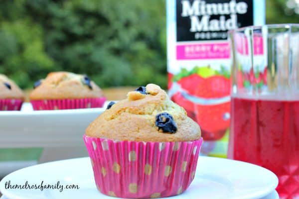 Berry Blueberry Muffins with Berry Punch