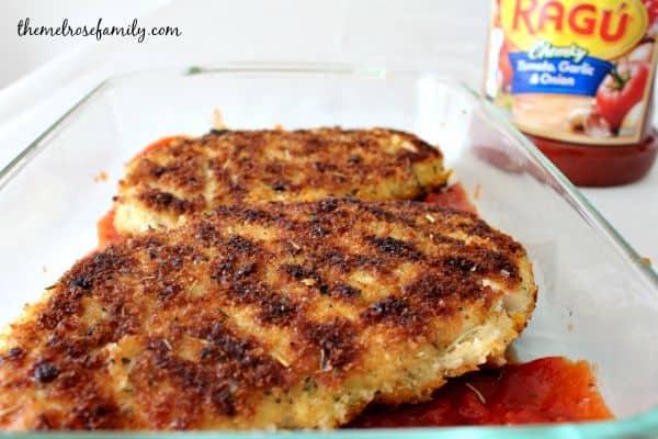 Chicken Parmesan with Ragu