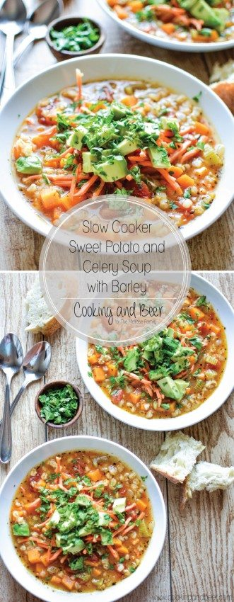 Slow Cooker Sweet Potato and Celery Soup