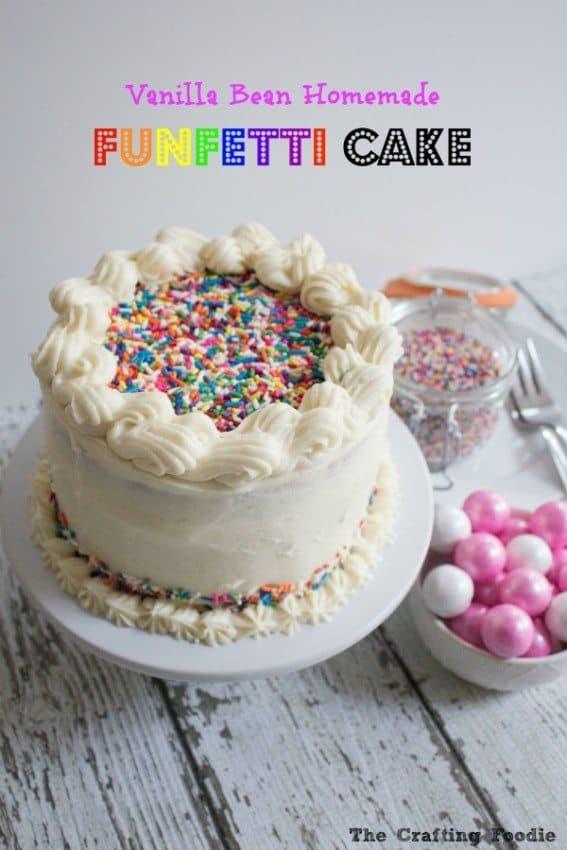 Vanilla Bean Funfetti Cake