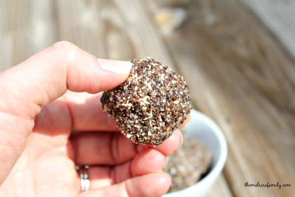 Almond Joy No Bake Energy Balls