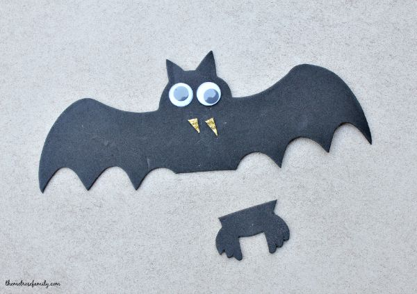 Bat Halloween Treats supplies altered
