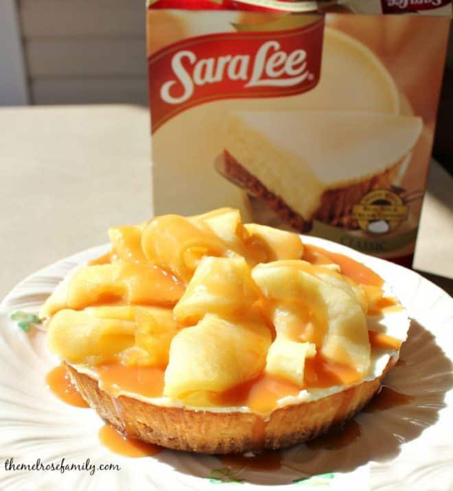 Caramel Apple Cheesecake with Sara Lee from Walmart