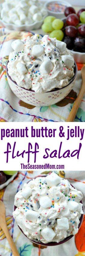 Peanut Butter & Jelly Fluff Salad