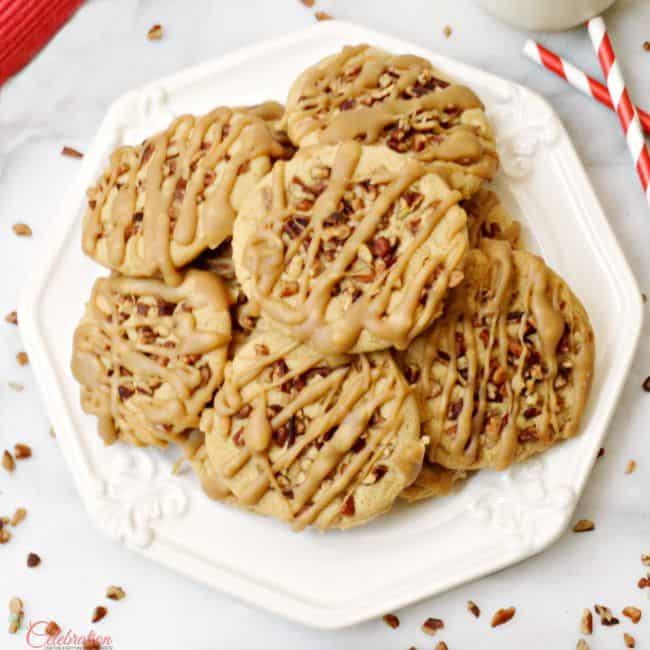 Praline Pecan Cookies Plated