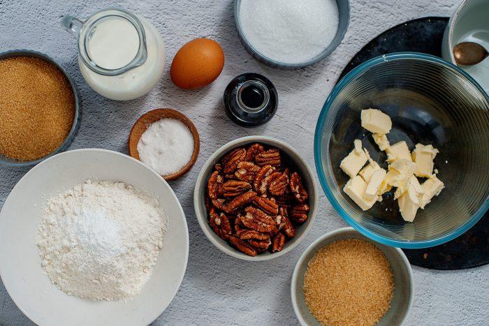 Ingredients for Pecan Praline Cookies