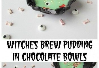 Witches Brew Pudding in Chocolate Bowls by Val Event Gal
