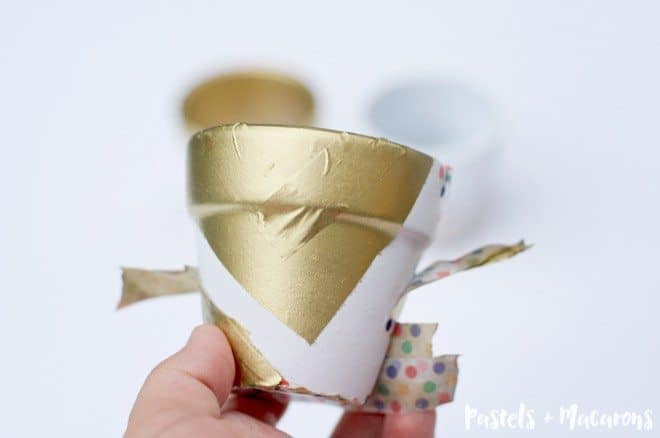 DIY Pots with washi