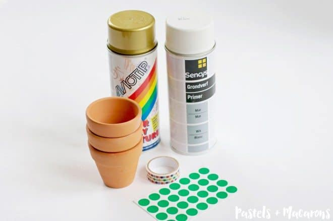 DIY Terra Cotta Pots Supplies