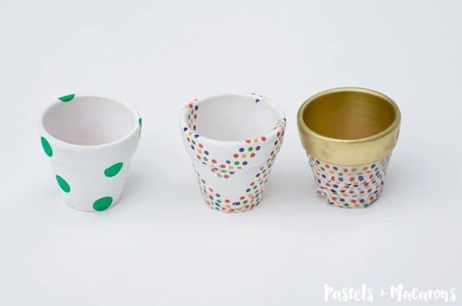 DIY Terra Cotta Pots washi taped