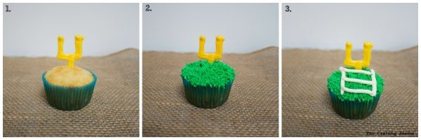 Goal Post Cupcakes Steps