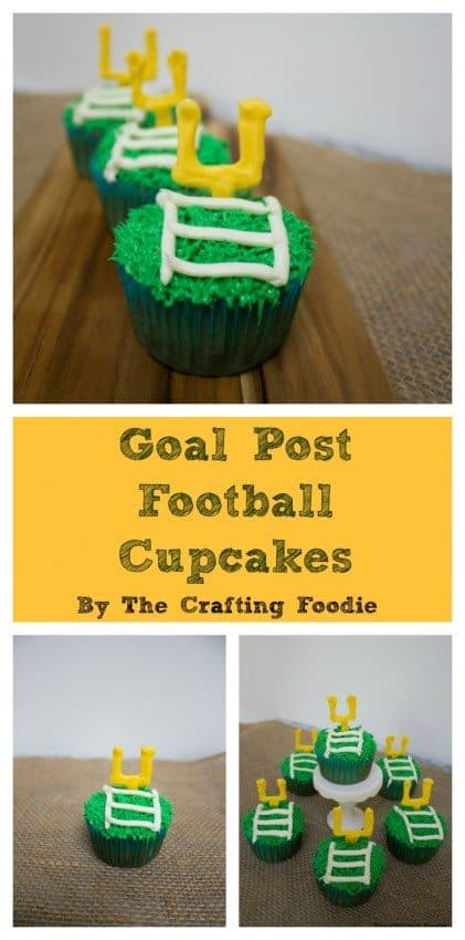 Goal Post Football Cupcakes are the perfect cupcake to enjoy during the games.