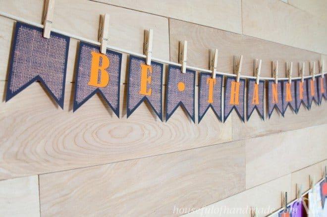 Thanksgiving Printable Burlap Banner