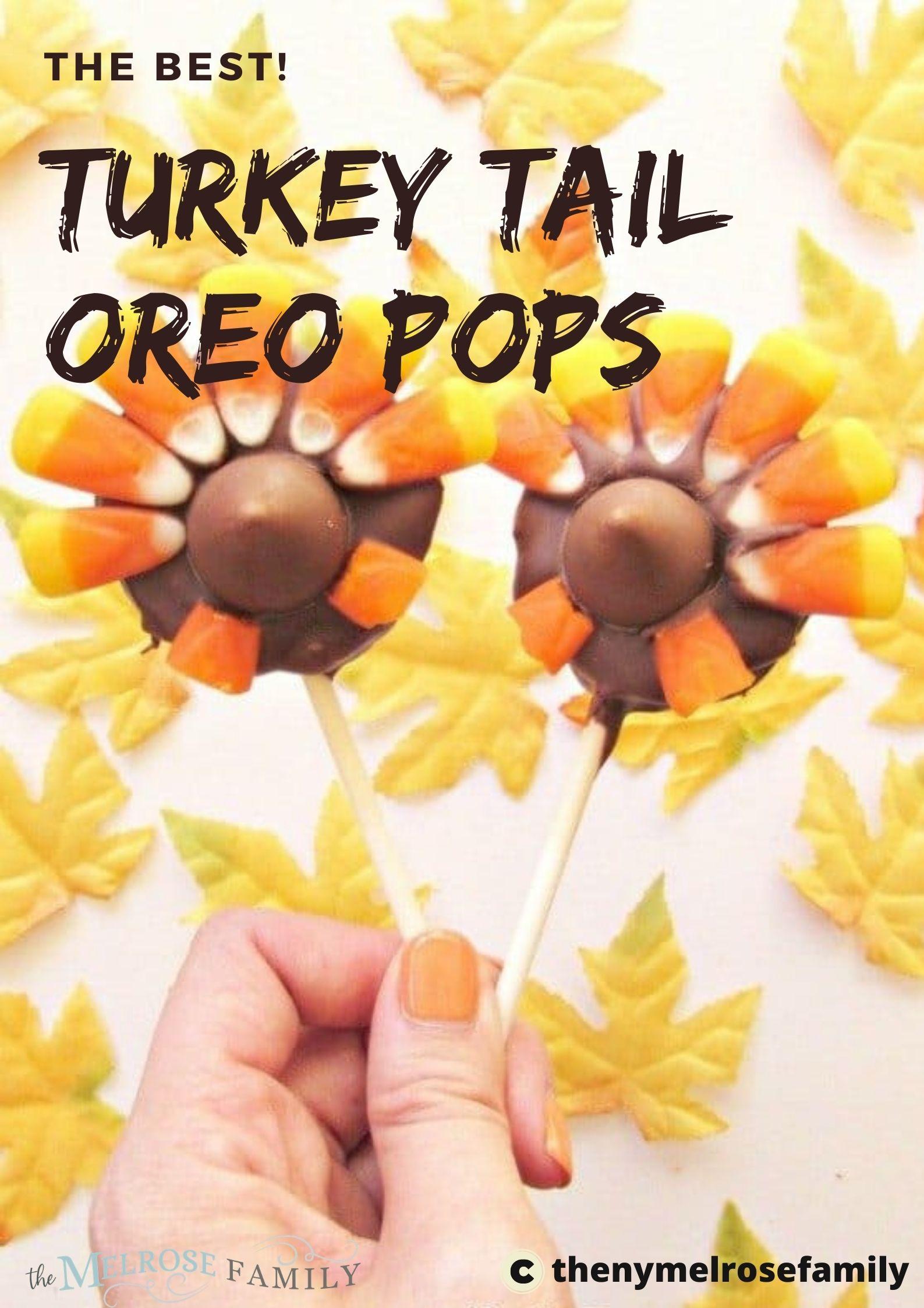 Turkey Tail Oreo Pops via @jennymelrose